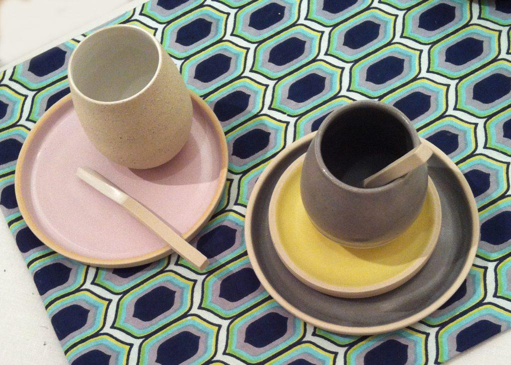 coffee set par Geraldine K ceramiste