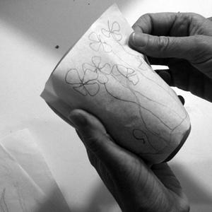 mishima de porcelaine sur gres